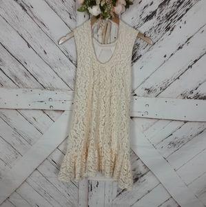 Miss Selfridge Lacey Ruffle Dress sz 4